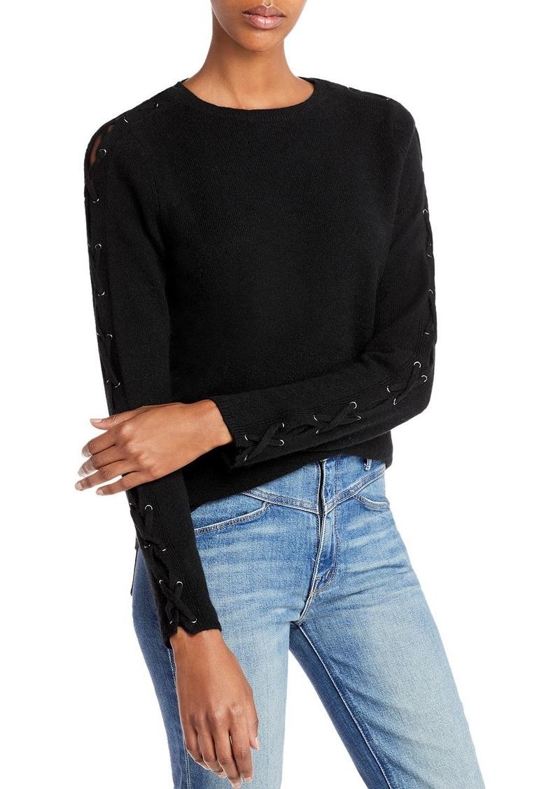 AQUA Cashmere Lace Up Cashmere Sweater - 100% Exclusive