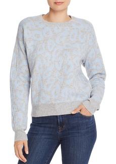AQUA Cashmere Leopard Jacquard Cashmere Sweater - 100% Exclusive