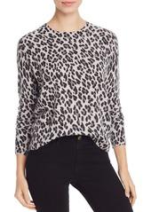 AQUA Cashmere Leopard-Pattern Cashmere Sweater - 100% Exclusive