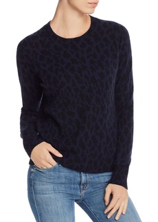AQUA Cashmere Leopard-Pattern Cashmere Sweater - 100% Exclusive