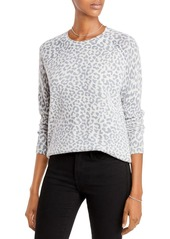 AQUA Cashmere Leopard Print Cashmere Sweater - 100% Exclusive