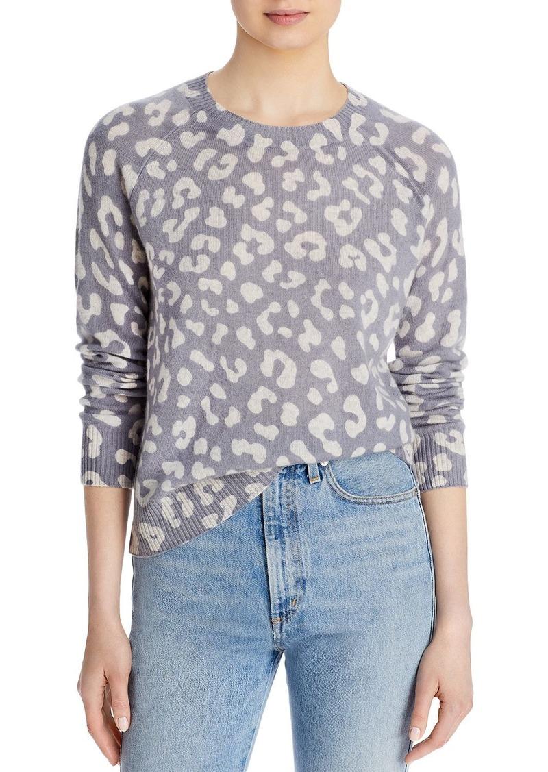 AQUA Cashmere Leopard Print Sweater - 100% Exclusive