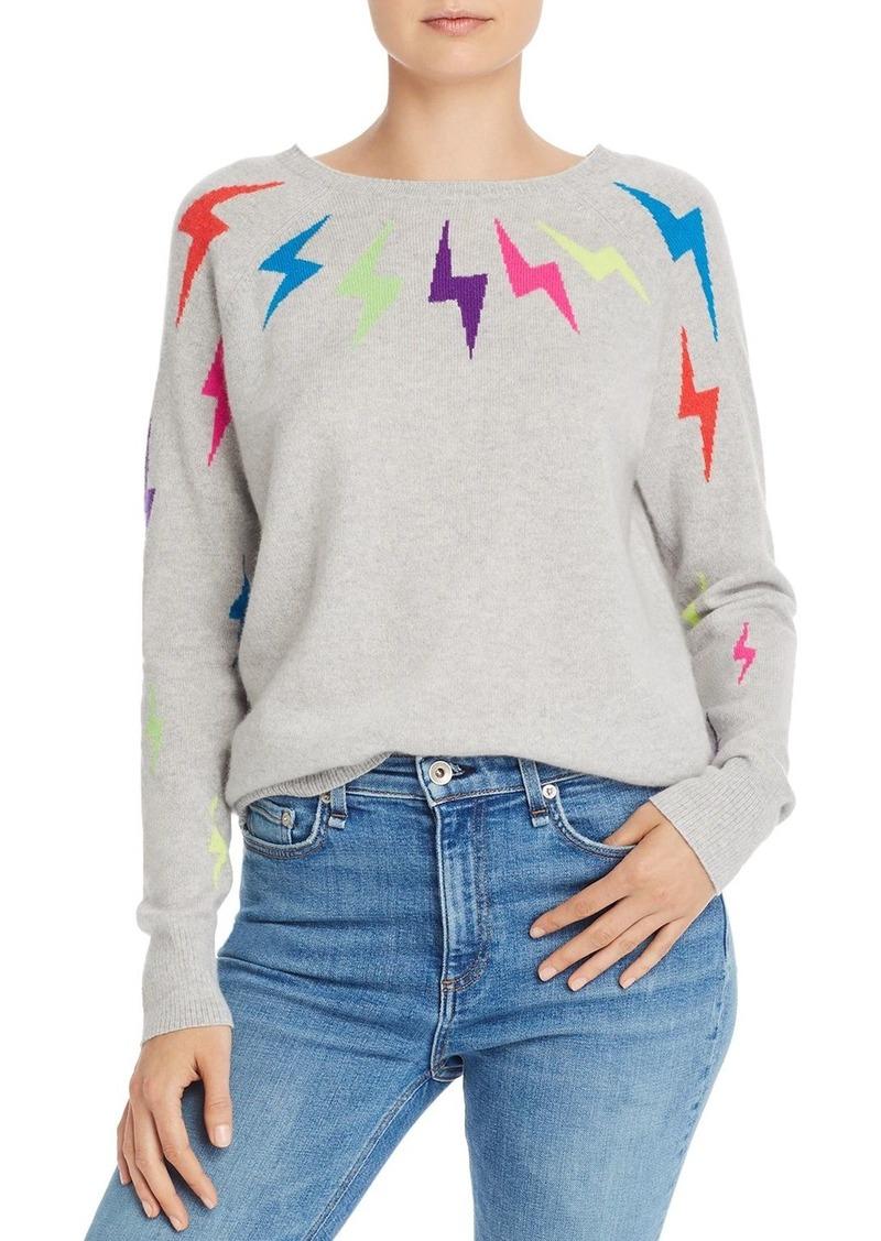 AQUA Cashmere Lightning Bolt Cashmere Sweater - 100% Exclusive