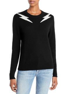 AQUA Cashmere Lightning Graphic Cashmere Sweater - 100% Exclusive