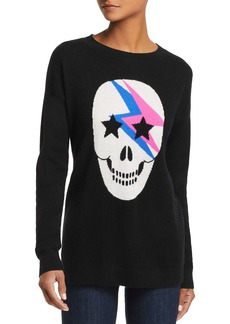 AQUA Cashmere Lightning Skull Cashmere Sweater - 100% Exclusive