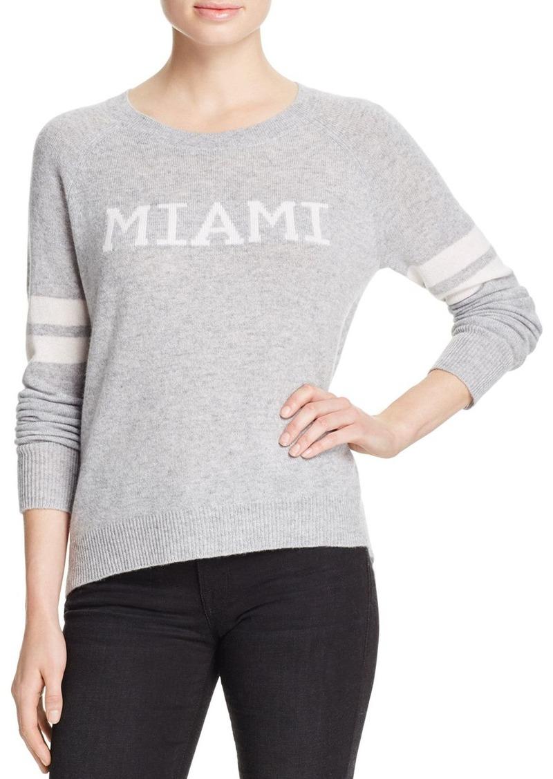 AQUA Cashmere Miami Crewneck Cashmere Sweater - 100% Exclusive