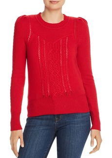 AQUA Cashmere Mixed-Knit Cashmere Sweater - 100% Exclusive