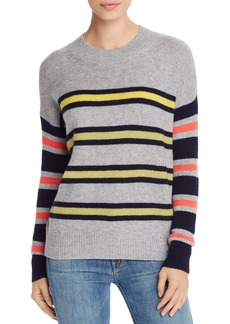 AQUA Cashmere Mixed-Stripe Cashmere Sweater - 100% Exclusive