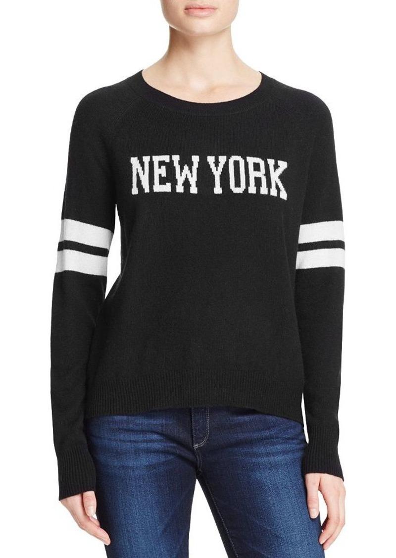 AQUA Cashmere New York Cashmere Sweater