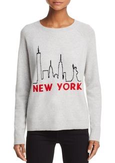 AQUA Cashmere New York Skyline Cashmere Sweater - 100% Exclusive