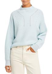 AQUA Cashmere Novelty Stitch Cashmere Mock Neck Sweater - 100% Exclusive