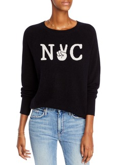 AQUA Cashmere NYC Graphic Cashmere Sweater - 100% Exclusive