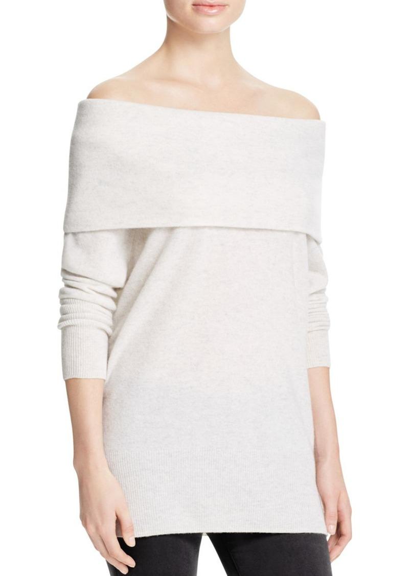 Aqua AQUA Cashmere Off-The-Shoulder Cashmere Sweater - 100 ...