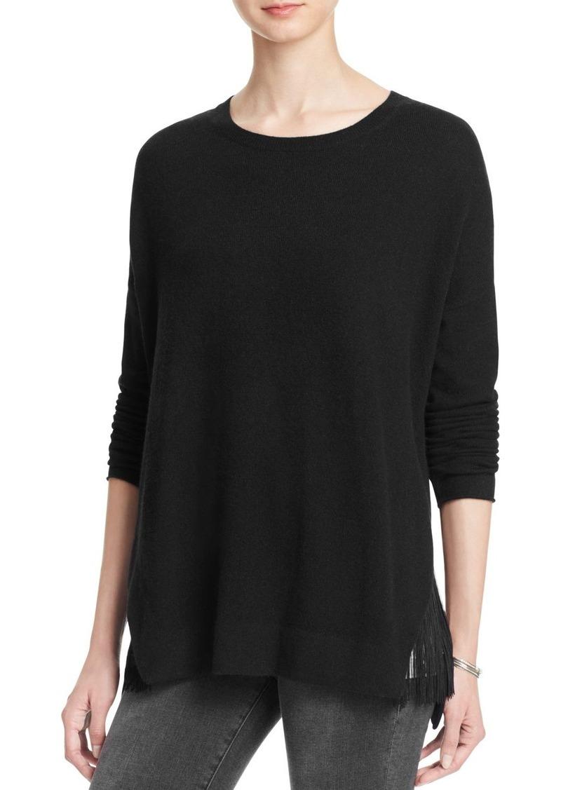 AQUA Cashmere Oversize Fringed Cashmere Sweater - 100% Exclusive