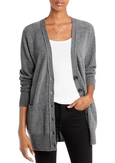 AQUA Cashmere Patch Pocket Cashmere Cardigan - 100% Exclusive