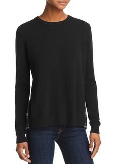 AQUA Cashmere Plaid-Hem Sweater - 100% Exclusive
