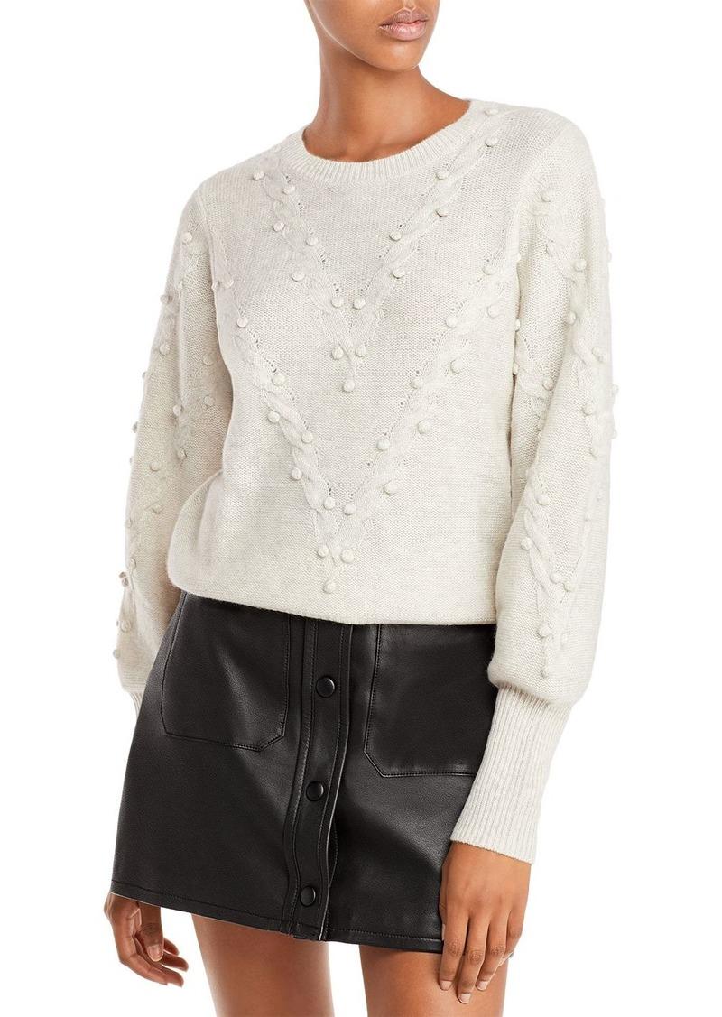 AQUA Cashmere Popcorn Cable Cashmere Sweater - 100% Exclusive