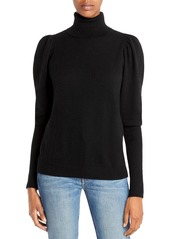 AQUA Cashmere Puff Sleeve Cashmere Turtleneck Sweater - 100% Exclusive