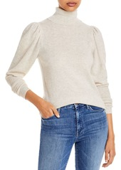 AQUA Cashmere Puff Sleeve Cashmere Turtleneck Sweater - 100% Exclusive