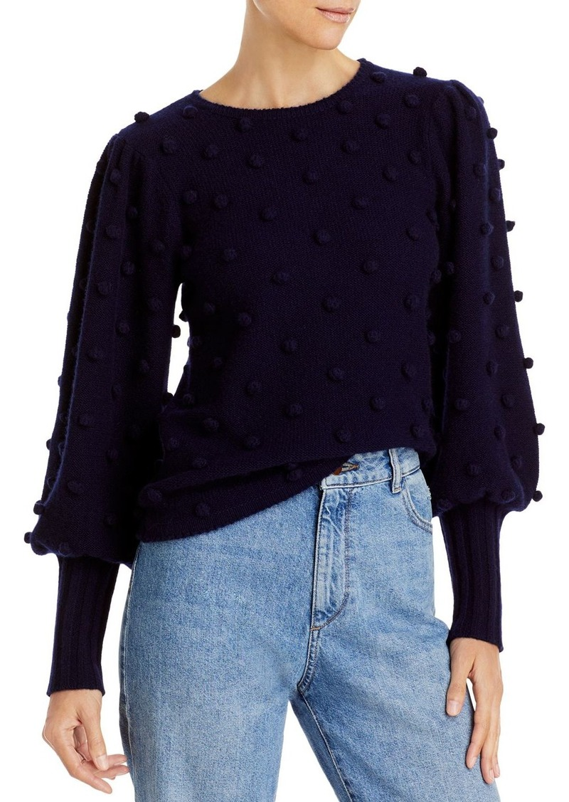 AQUA Cashmere Puff-Sleeve Popcorn Cashmere Sweater - 100% Exclusive