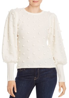 AQUA Cashmere Puff-Sleeve Popcorn Cashmere Sweater - 100% Exclusive