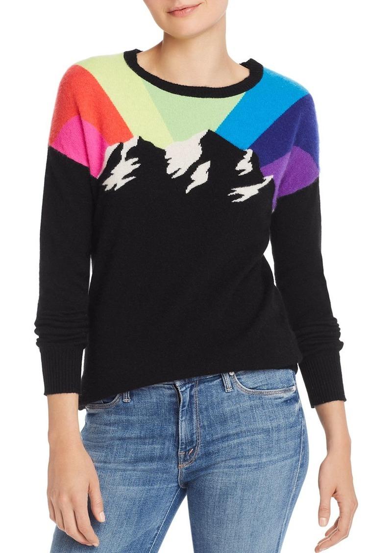 AQUA Cashmere Rainbow Mountain Cashmere Sweater - 100% Exclusive