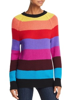 AQUA Cashmere Rainbow-Stripe Cashmere Sweater - 100% Exclusive