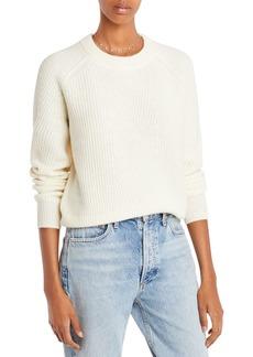 AQUA Cashmere Ribbed Cashmere Sweater - 100% Exclusive