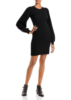 AQUA Cashmere Ribbed Cashmere Sweater Dress - 100% Exclusive
