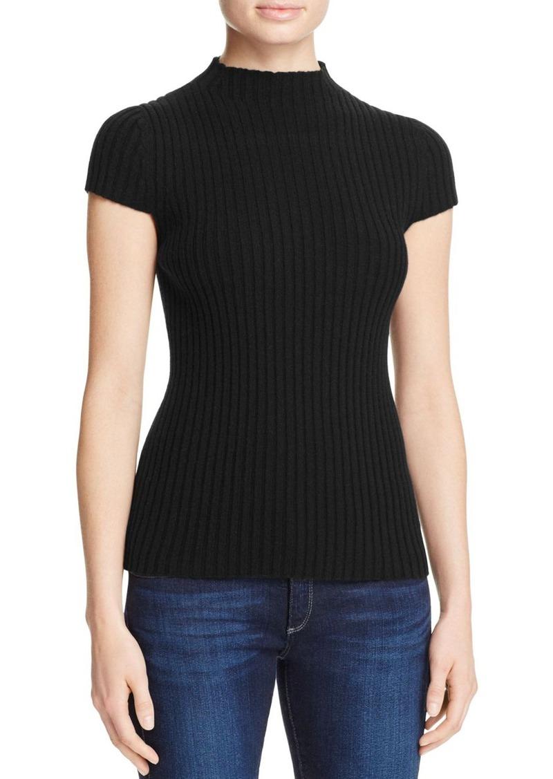 AQUA Cashmere Ribbed Mock Neck Cashmere Sweater - 100% Exclusive