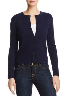 AQUA Cashmere Scalloped Cashmere Cardigan - 100% Exclusive
