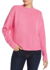 AQUA Cashmere Seamed Boxy Cashmere Sweater - 100% Exclusive
