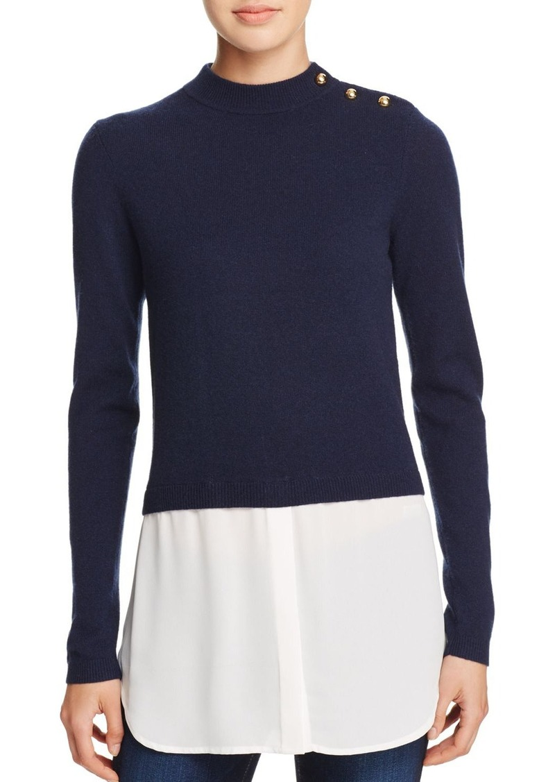 AQUA Cashmere Shirttail Sweater - 100% Exclusive