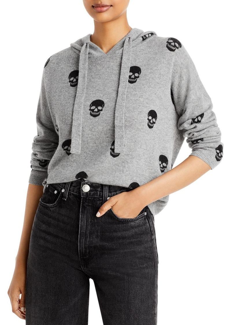 AQUA Cashmere Skull Print Hoodie - 100% Exclusive