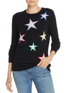 AQUA Cashmere Star Intarsia Cashmere Sweater - 100% Exclusive