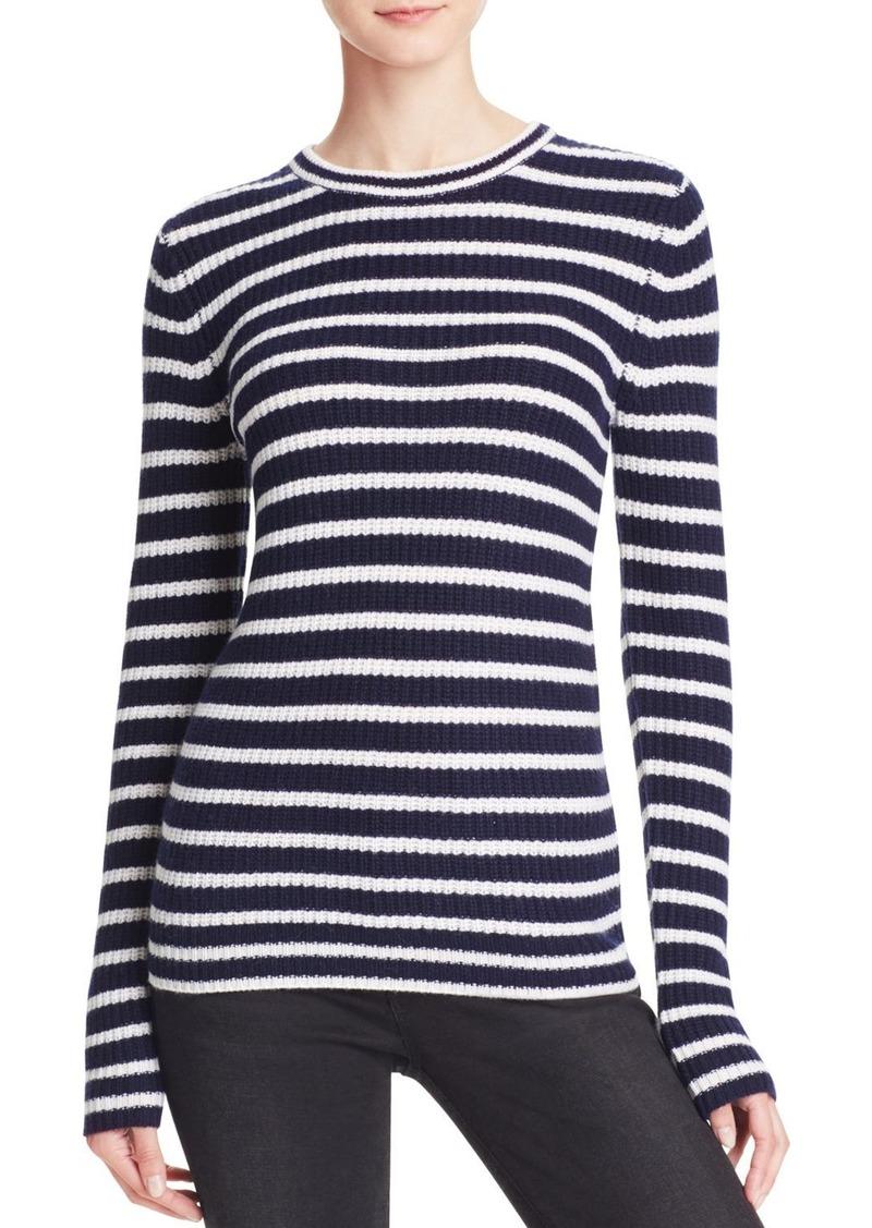 AQUA Cashmere Stripe Cashmere Sweater - 100% Exclusive