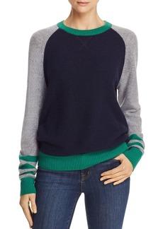AQUA Cashmere Stripe Color-Block Sweater - 100% Exclusive