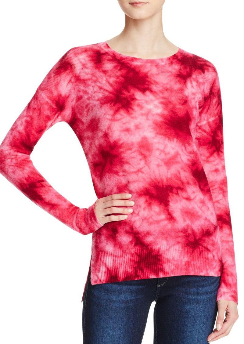 AQUA Cashmere Tie Dye Crewneck Cashmere Sweater - 100% Exclusive