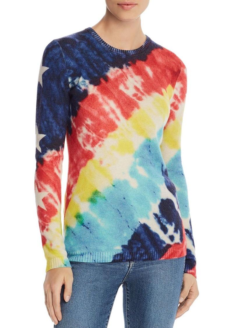 AQUA Cashmere Tie-Dye Star-Sleeve Cashmere Sweater - 100% Exclusive