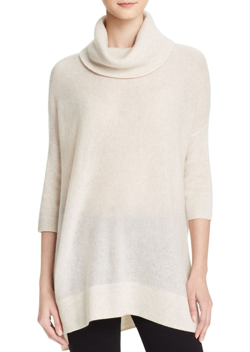 AQUA Cashmere Turtleneck Cashmere Poncho Sweater - 100% Exclusive
