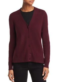 AQUA Cashmere V-Neck Cashmere Cardigan - 100% Exclusive