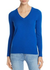 AQUA Cashmere V-Neck Cashmere Sweater - 100% Exclusive