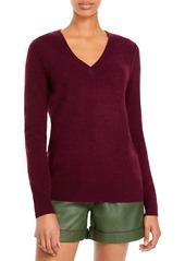 AQUA Cashmere V-Neck Cashmere Sweater - 100% Exclusive