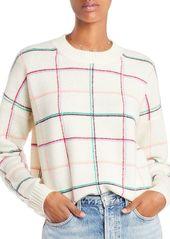 AQUA Cashmere Plaid Crewneck Cashmere Sweater - 100% Exclusive