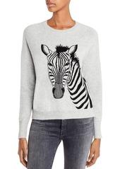 AQUA Cashmere Zebra Graphic Cashmere Sweater - 100% Exclusive