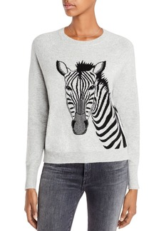 AQUA Cashmere Zebra Graphic Cashmere Sweater - 100% Exclusive