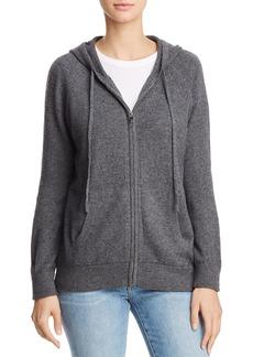 AQUA Cashmere Zip-Front Cashmere Hoodie - 100% Exclusive