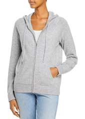 AQUA Cashmere Zip Up Hoodie - 100% Exclusive