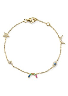 AQUA Celestial Charm Drop Bracelet in 18K Gold-Plated Sterling Silver - 100% Exclusive