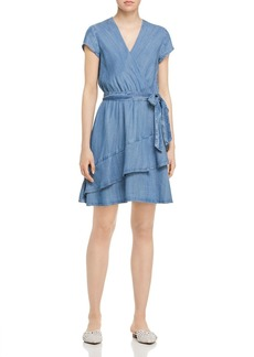 AQUA Chambray Faux-Wrap Dress - 100% Exclusive